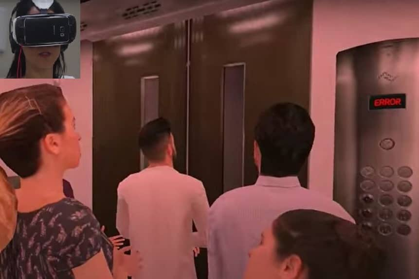Entorno virtual ascensor - tratamiento de la claustrofobia
